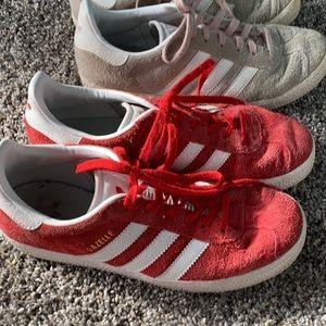Youth adidas gazelle shoes size 4 & 4.5